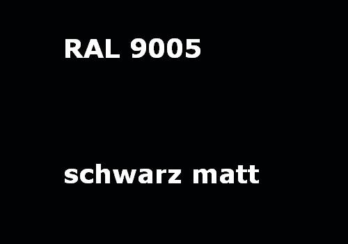 RAL 9005 tief-schwarz glatt matt