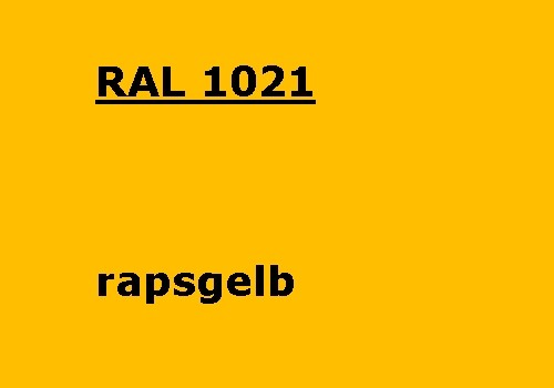 RAL 1021 colza-yellow glossy