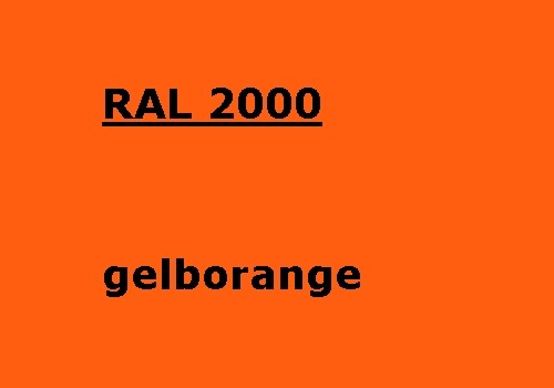 RAL 2000 gelb-orange glänzend