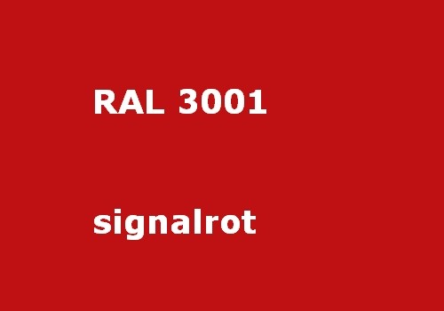 RAL 3001 signal-red glossy