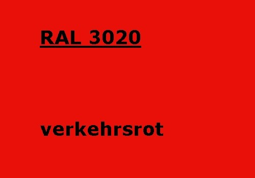 RAL 3020 traffic-red glossy