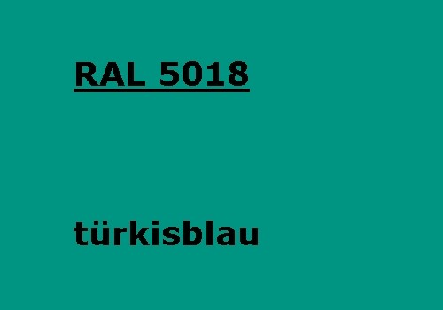 RAL 5018 turquoise-blue glossy