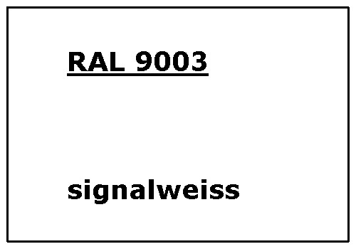 RAL 9003 signal-white matt