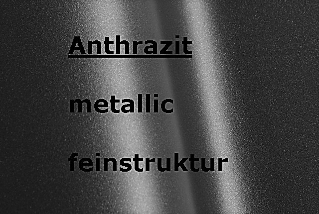 Anthracite-Black metallic textured