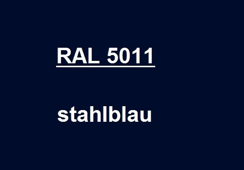RAL 5011 steel - blue glossy