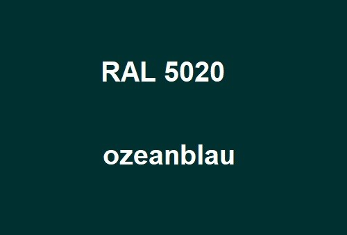 RAL 5020 ocean - blue glossy