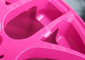 NEON PINK fluoreszierend glänzend